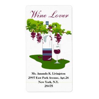 CHIC WINE LABEL_WINE LOVER LABEL