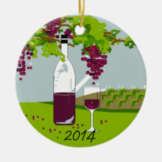 CHIC WINE-LOVERS CHRISTMAS 2014 ORNAMENT