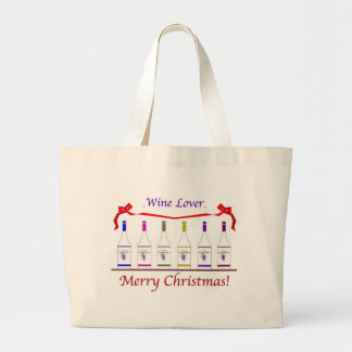 CHIC WINE-LOVERS CHRISTMAS CANVAS BAGS