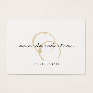 Chic Wine Stain Business Card
