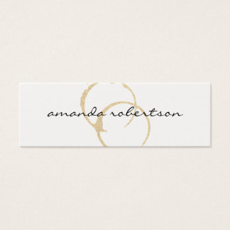Chic Wine Stain Mini Business Card