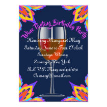 Chic Wine Tasting Birthday Party Invitation