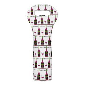 CHIC WINE TOTE_WINE LOVER-BOTTLES AND GLASSES WINE BAG