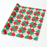 CHIC WRAPPING PAPER_BOLD CHRISTMAS TILES WRAPPING PAPER