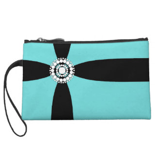 CHIC WRISTLET-PEARLS AND RIBBONS WRISTLET WALLET