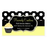 Chic Yellow & Black Custom Bakery Business Card