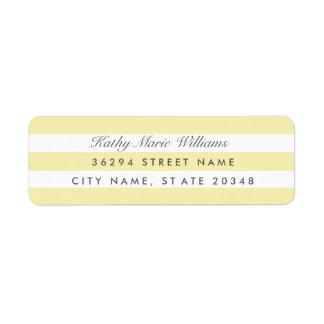 Chic Yellow Striped Address Labels