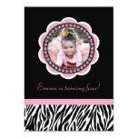 Chic Zebra Birthday Invitation