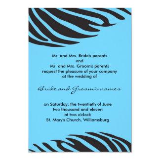 Chic zebra - Deep sky blue Card