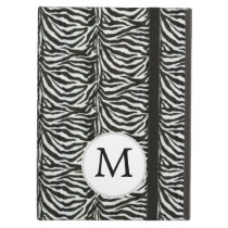 Chic zebra print customized initial monogram cover for iPad air