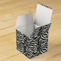 Chic zebra print customized initial monogram favor box