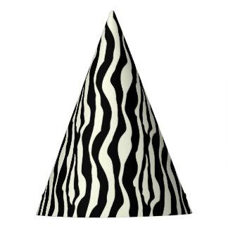 Chic Zebra Print Party Hats