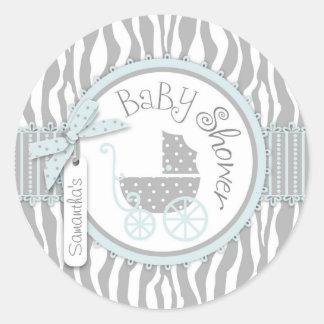 Chic Zebra Print Sticker R-BLGY-2