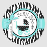 Chic Zebra Print Sticker R-TQBK-2