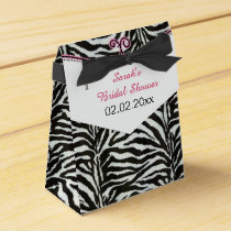 Chic Zebra stripes personalized favor boxes