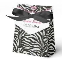 Chic Zebra stripes personalized favor boxes