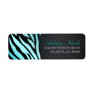 Chic Zebra Sweet Sixteen Address Labels