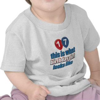 Chica 17 del cumpleaños camiseta