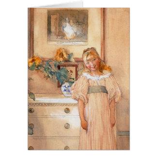 Chica 1893 del girasol felicitación