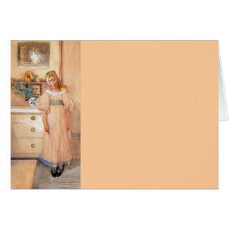 Chica 1893 del girasol tarjeta de felicitación