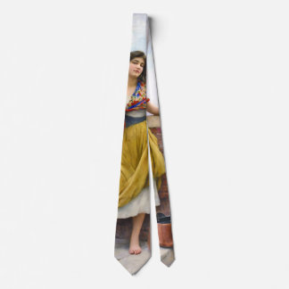 Chica 1908 del agua corbata personalizada