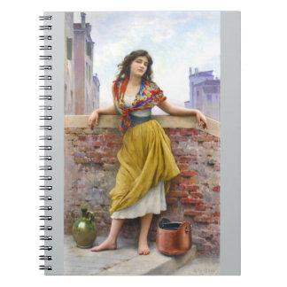 Chica 1908 del agua libretas espirales