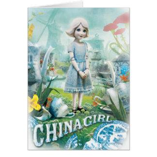 Chica 1 de China Tarjeta De Felicitación