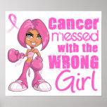 Chica 1 del combate del cáncer de pecho