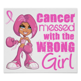 Chica 1 del combate del cáncer de pecho poster