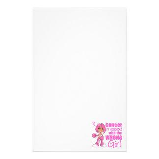 Chica 1 del combate del cáncer de pecho  papeleria de diseño