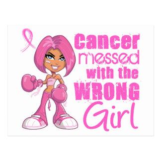 Chica 1 del combate del cáncer de pecho tarjeta postal