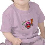 """Chica """"1"""" del cumpleaños años camisetas"""