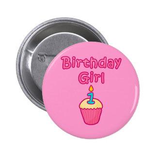 Chica 1 del cumpleaños de la magdalena pins