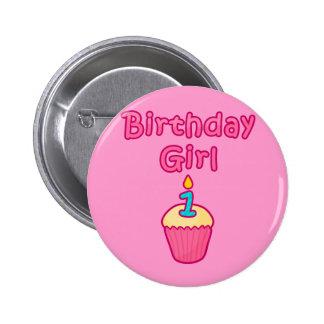 Chica 1 del cumpleaños de la magdalena pin