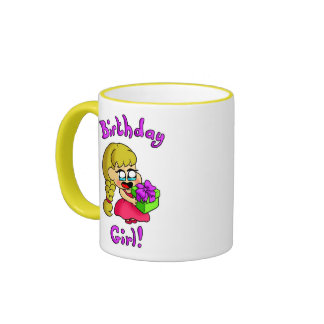 Chica 1 del cumpleaños taza