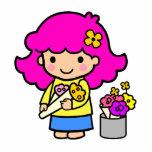 Chica 1 del florista escultura fotográfica