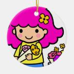 Chica 1 del florista ornamentos de reyes magos
