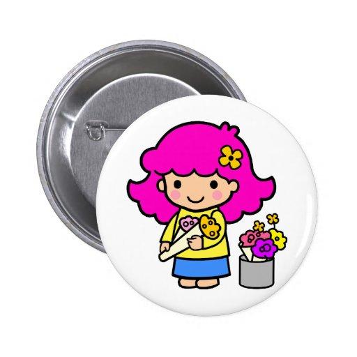 Chica 1 del florista pin