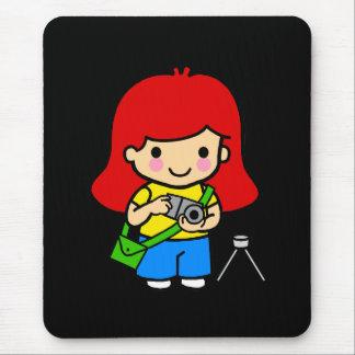 Chica 1 del fotógrafo alfombrillas de ratones