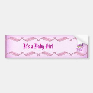 Chica #1 pegatina para auto