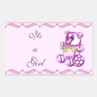 Chica #1 pegatina rectangular
