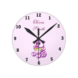 Chica #1 reloj redondo mediano