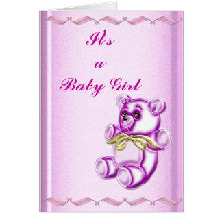 Chica #1 tarjeta de felicitación