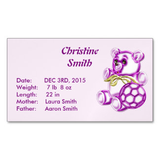 Chica #1 tarjetas de visita magnéticas (paquete de 25)