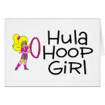 Chica 2 del aro de Hula Felicitaciones