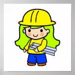 Chica 2 del arquitecto impresiones