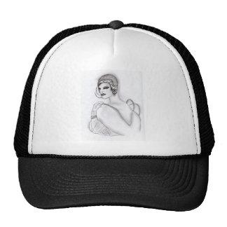 Chica 2 del art déco gorras de camionero