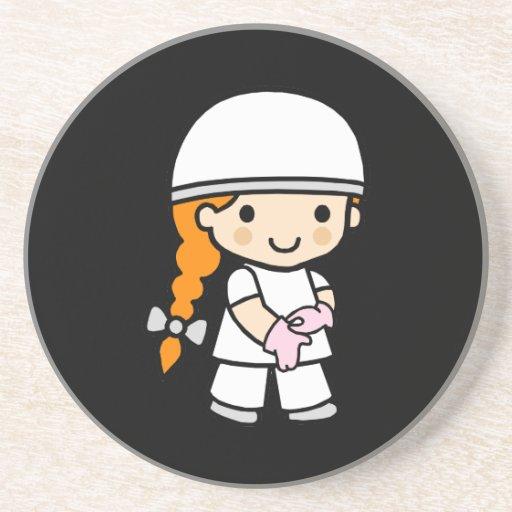 Chica 2 del cirujano posavasos para bebidas