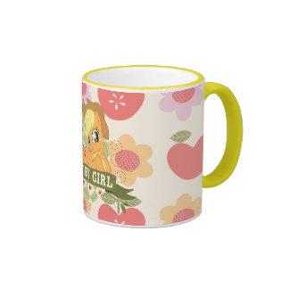 Chica 2 del país tazas de café