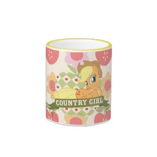 Chica 2 del país taza de dos colores